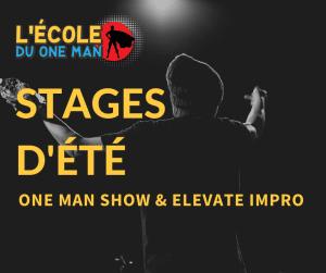 stage été improvisation théâtrale one man show elevate impro bordeaux